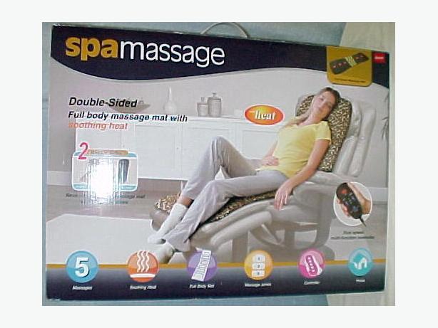 SPA MASSAGE Full Body Massage Mat~Heat & Vibration Black