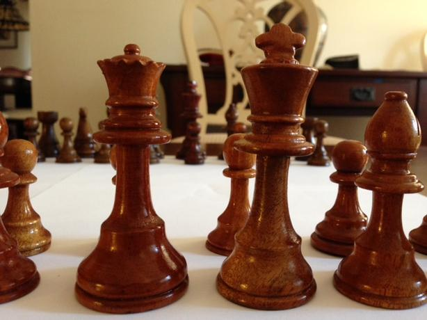 Small Hand Carved Chess Pieces
