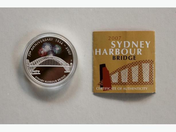 2007 Australian $1 Silver Sydney Harbour Bridge Coin