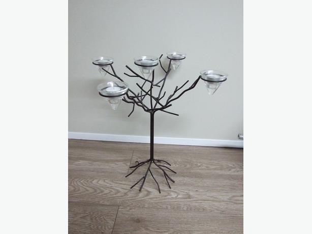 Wrought Iron Candle Tree Decor
