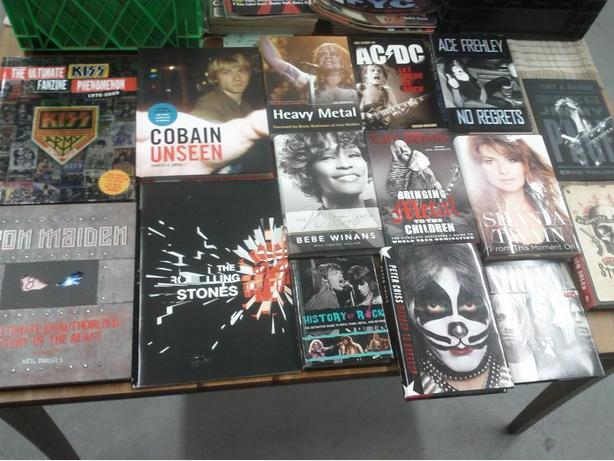 Various Books On Rock and Roll