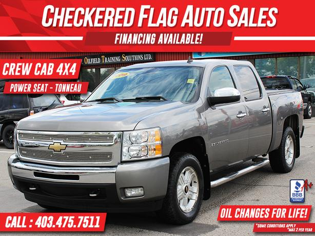 2009 CHEVROLET SILVERADO 1500 LT Z71 CREW-4X4-TOW PACKAGE-ALLOYS