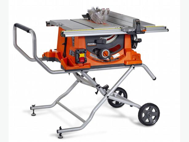 Ridgid r4513 portable table saw oak bay victoria for 10 cast iron table saw ridgid