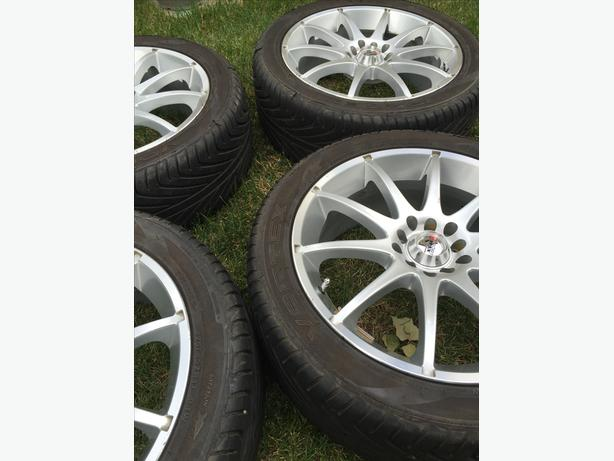 17 inch rims and low profile tires for sale north regina regina. Black Bedroom Furniture Sets. Home Design Ideas
