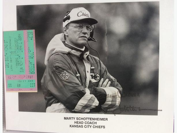Marty Schottenheimer autograph for sale