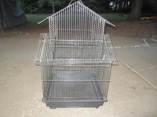 bird cage 18 inch by 18 inch by 30 inch tall