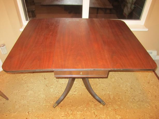 PRICE LOWERED Claw Foot Pedestal Drop Leaf Table