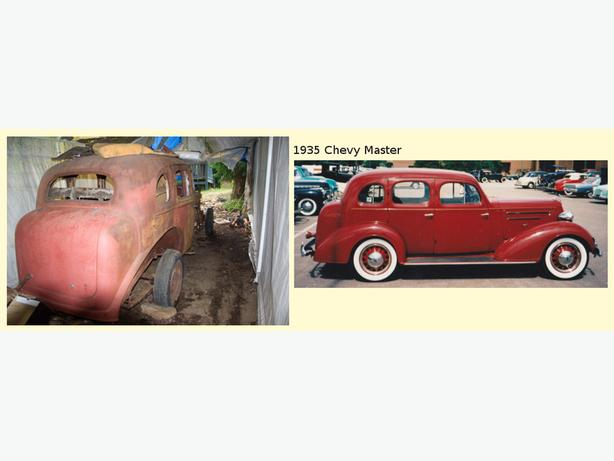 1935 Chevy Master restoratiom Project car