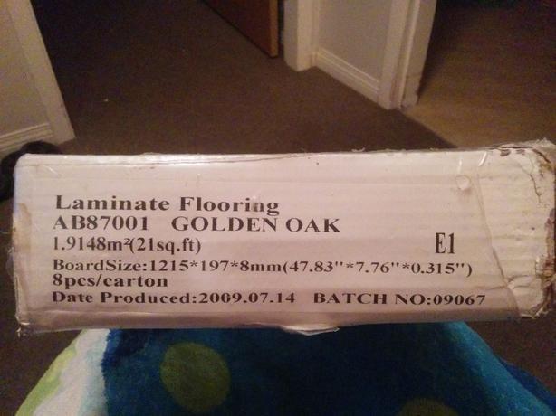 Laminate Flooring, Golden Oak
