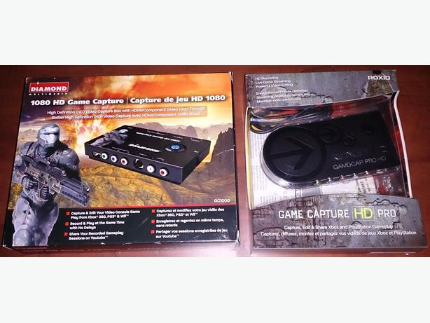 Roxio Game Capture HD Pro and Diamond GC1000 1080 HD Game Capture