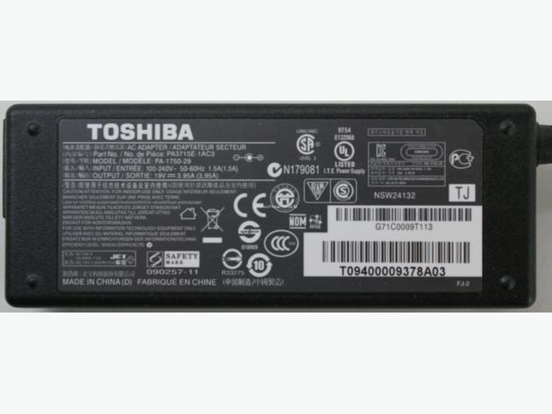 TOSHIBA Laptop Power Adaptor