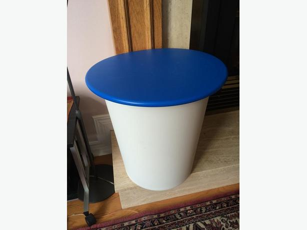 IKEA Round table with removable top for storage