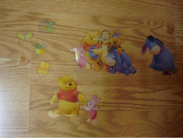 Like New Winnie the Pooh Window or Mirror Stickers - $1 all