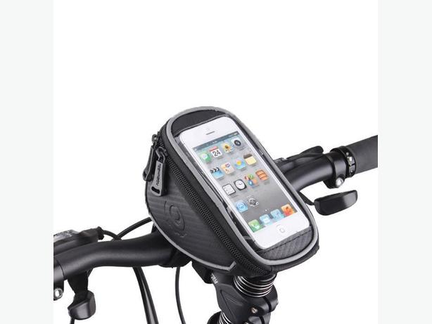 "Bicycle Bike Handbar Frame Phone Bag - 1.5L 5"" Screen - Black"