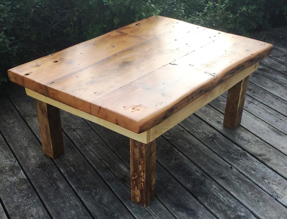 Reclaimed threshing floor coffee table outside ottawa for Coffee tables london ontario