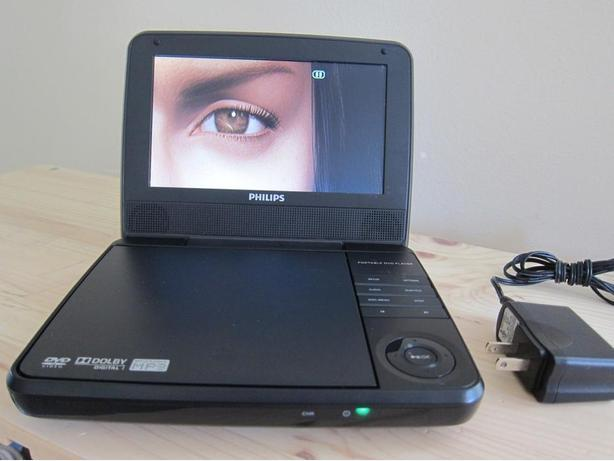 PHILIPS PET741B/37 PORTABLE 7 INCH SMALL DVD PLAYER