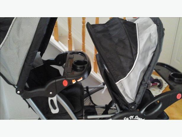 baby trend sit n stand double stroller for sale nepean ottawa. Black Bedroom Furniture Sets. Home Design Ideas