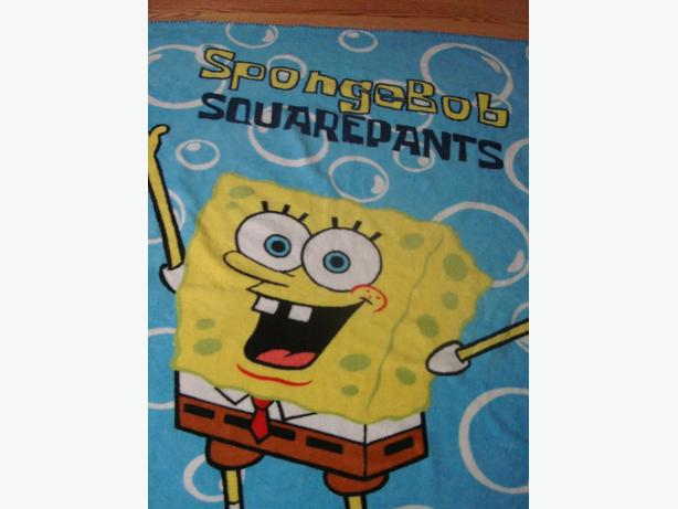 Like New Spongebob Fleece Blanket - $7