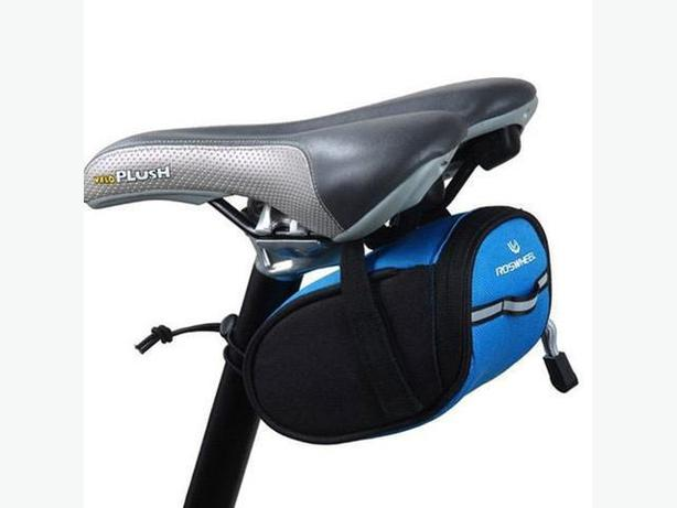 Bicycle Bike Seat Saddle Tail Pouch Bag - Black Blue