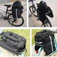 Bike Rear Rack Waterproof Double Pannier Bag with Rain Cover