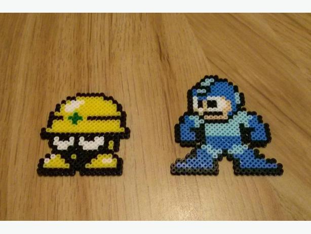 Megaman perler craft pixel art