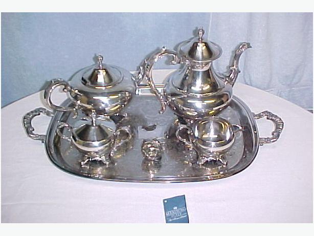 Marlboro Morton - Parker Silver Plate Tea Service~Orig Papers