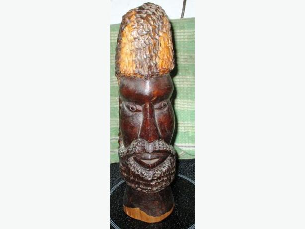 Solid wood figurine