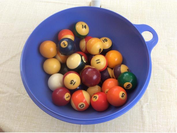 vintage pool balls LOT