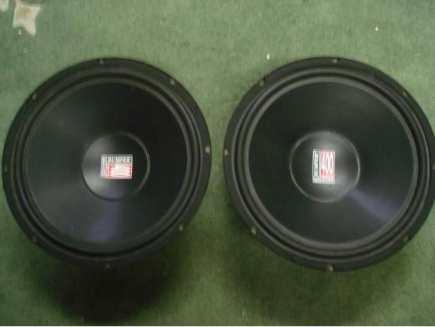 "BAMPER 400 Watts 15"" woofers pair for home or car audio"