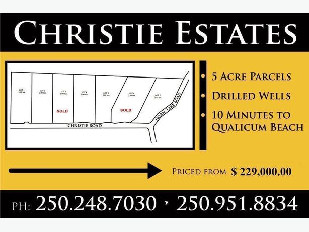 Qualicum Beach Acreages  Christie Estates