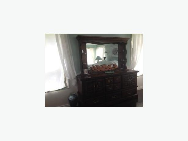 Solid Pine Bedroom Suite For Sale Includes King Size Mattress set