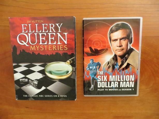 Ellery Queen & Six Million Dollar Man DVD's