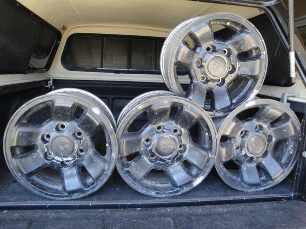 4 Toyota 15 inch 6 bolt Stock Truck rims
