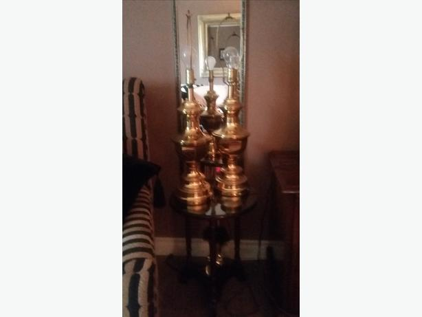 Two Solid Brass Lamps