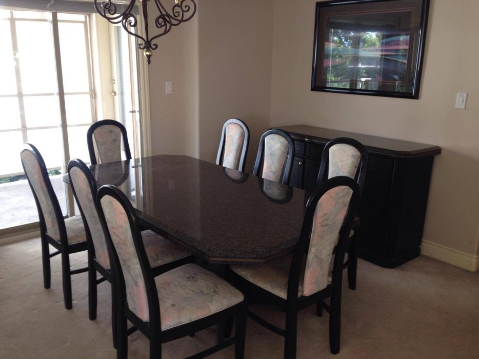 Amazing Granite Dining set 400 Table 8chairs West  : 54179664934 from www.usedvictoria.com size 934 x 700 jpeg 62kB