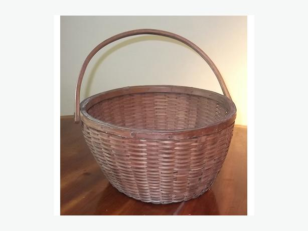 Antique Native Splint Gathering Basket