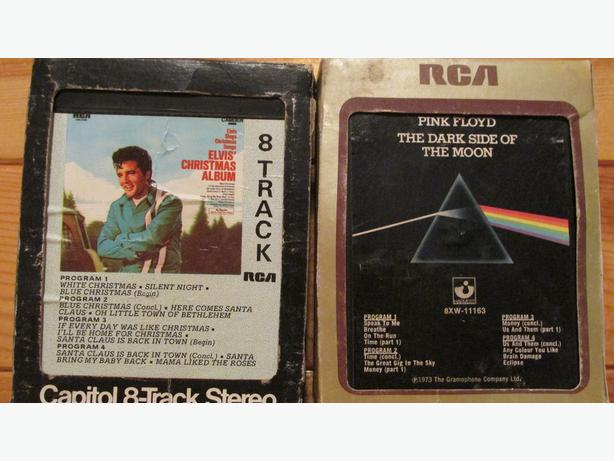 8-Track tapes and stereo cassette adaptor
