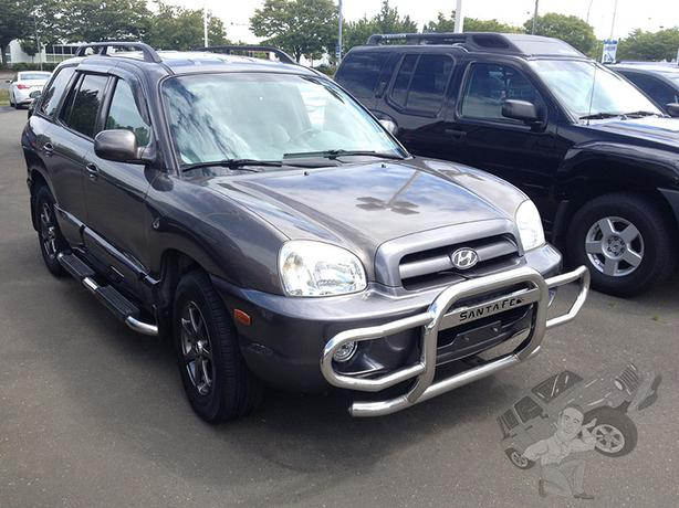 silver 2005 hyundai santa fe gls awd outside victoria victoria mobile. Black Bedroom Furniture Sets. Home Design Ideas