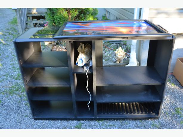 FREE: Black TV/Stereo Cabinet with Smoke Glass Doors