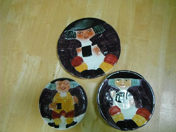 Staffordshire Shorter & sons Toby series hand painted plates-Duncan
