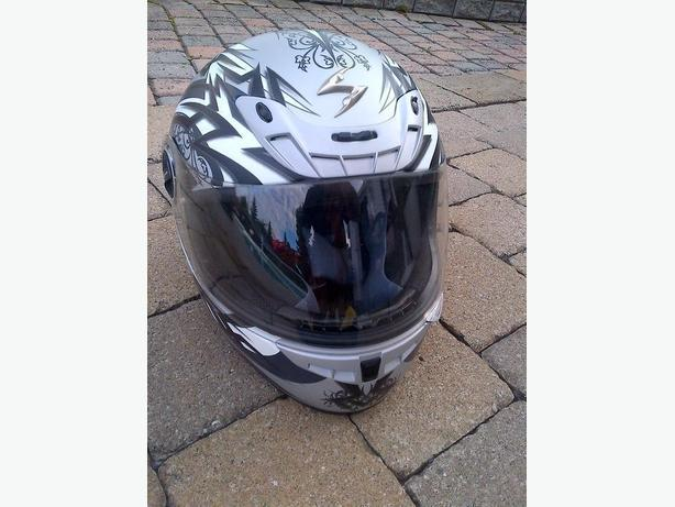 NEW AIR SCORPION EXO-400 FULL FACE STREET XS SILVER BLACK HELMET