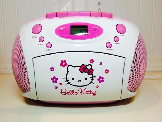 Hello Kitty Stereo AM/FM/CD Boom Box - as new