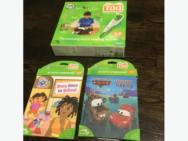 Leap Frog Tag Reading System with Three New Books