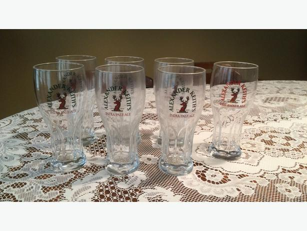 Keith's Beer Glasses (6 India Pale Ale plus 1 bonus Red Amber)