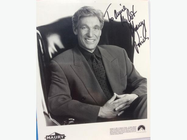 Maury Povich autograph for sale