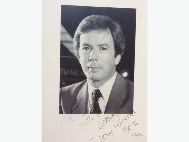 Tony Parsons autograph for sale
