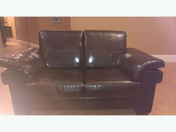 Couch and LoveSeat - Matching - leatherette