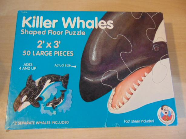 childrens giant floor puzzles killer whales butterflies 50 pc 7 00
