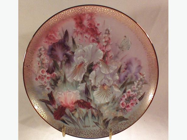 Lena Liu Iris Quartet collector plate