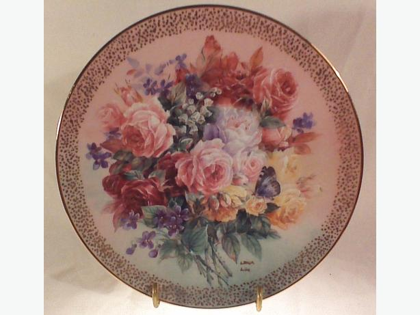Lena Liu Rose Fantasy collector plate